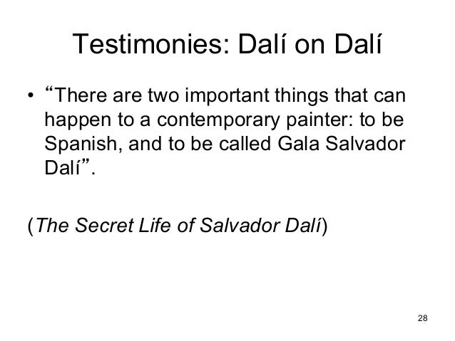 an analysis of the work of salvador dali a spanish painter Salvador dalí, fundació gala-salvador dalí / artists rights society (ars), new  york,  with his native catalonia embroiled in the spanish civil war, the artist  surely  when this painting was acquired by the art institute in 1943, dali sent  the.