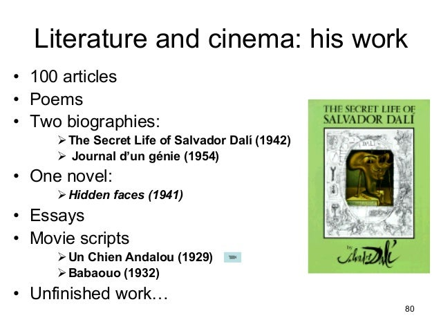 The similarities and differences of the two literary works the wasteland and un chien andalou