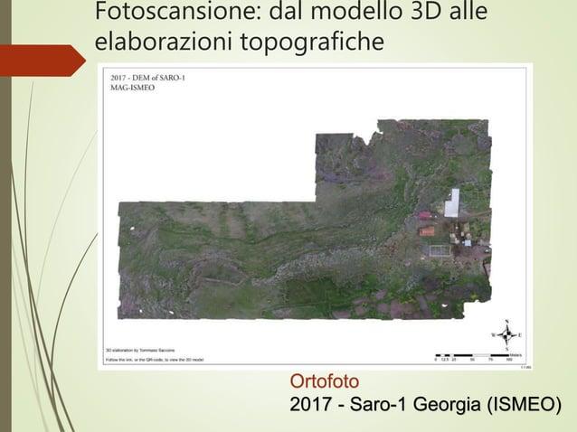 Fotoscansione: dal modello 3D alle elaborazioni topografiche Ortofoto 2017 - Saro-1 Georgia (ISMEO)