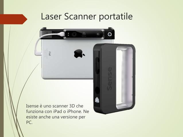 Laser Scanner portatile Isense è uno scanner 3D che funziona con iPad o iPhone. Ne esiste anche una versione per PC.