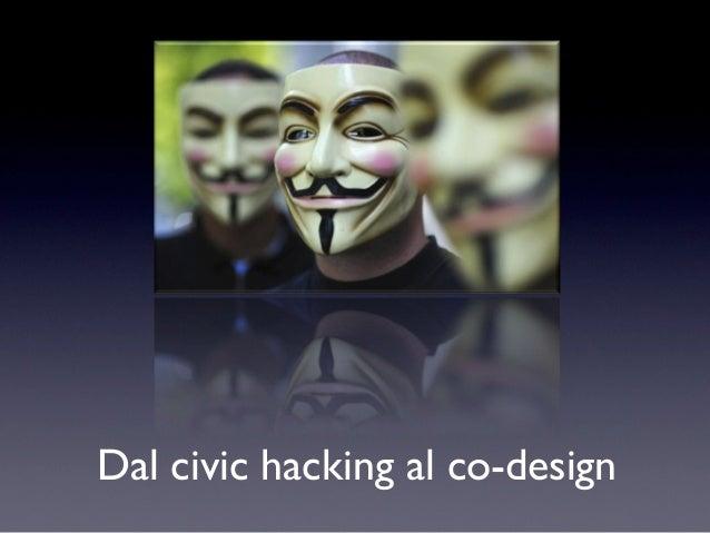 Dal civic hacking al co-design