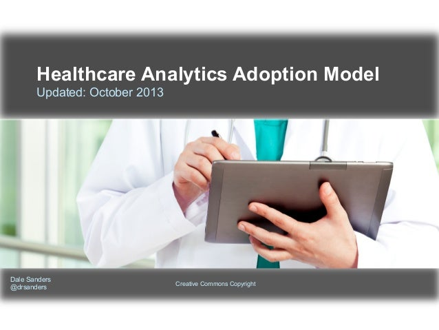Healthcare Analytics Adoption Model Updated: October 2013  Dale Sanders @drsanders  Creative Commons Copyright