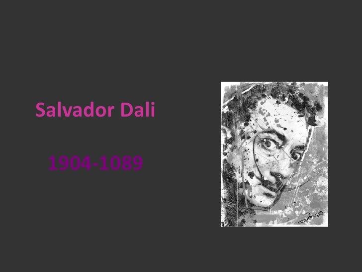 Salvador Dali   1904-1089