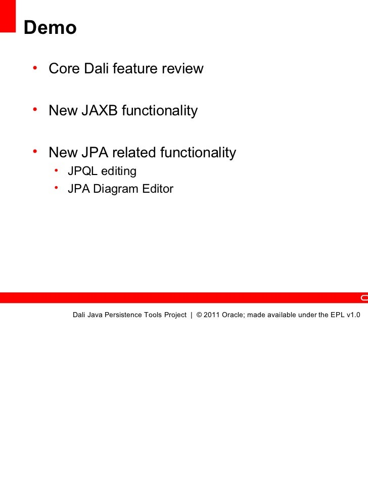 Dali java persistence tools 30 whats new for java ee 6 ccuart Choice Image