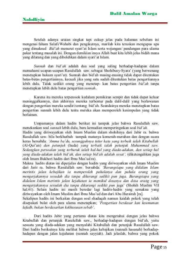 Dalil Dalil Amaliyah Nahdliyyin Rmi Project Syndication Www Rmi N
