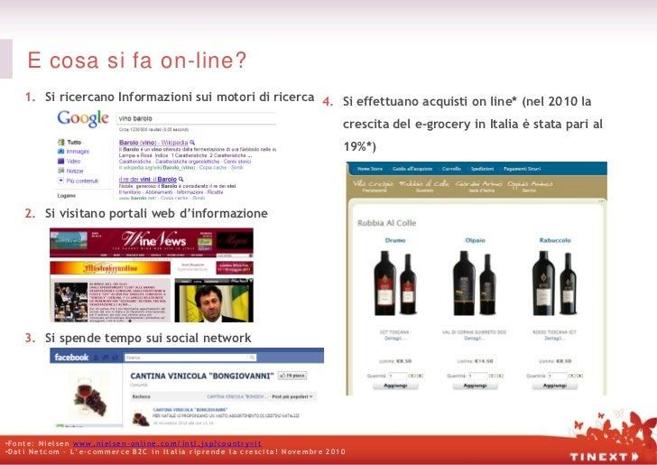 E cosa si fa on-line?       1. Si ricercano Informazioni sui motori di ricerca 4. Si effettuano acquisti on line* (nel 201...