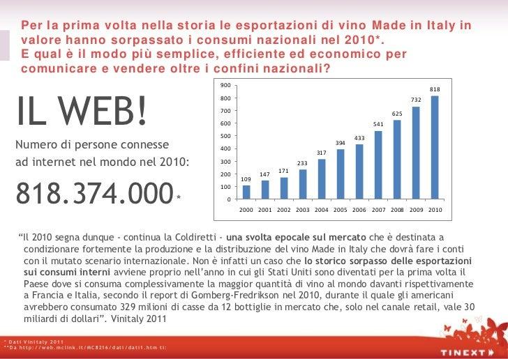 Per la prima volta nella storia le esportazioni di vino Made in Italy in     valore hanno sorpassato i consumi nazionali n...
