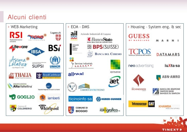 Alcuni clienti› WEB Marketing   › ECM - DMS   › Housing – System eng. & sec
