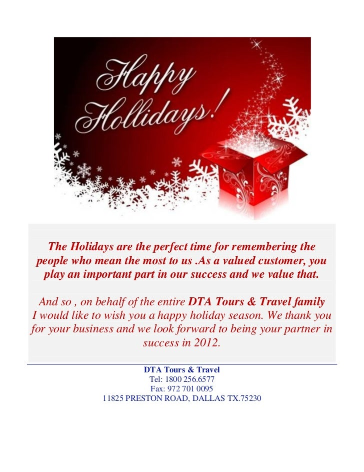 The Holidays are the perfect time for remembering the people who mean the most to us .As a valued customer, you  play an i...