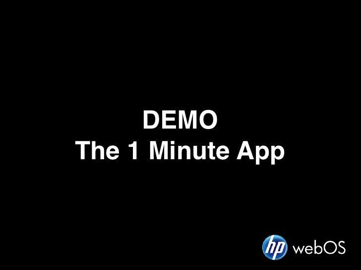 DEMOThe 1 Minute App