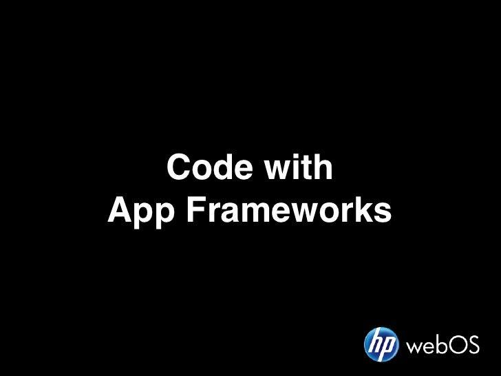 Code withApp Frameworks