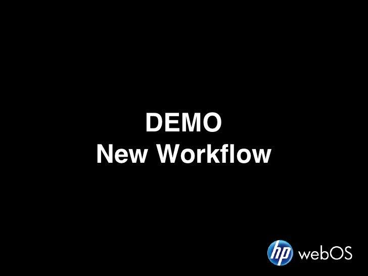 DEMONew Workflow
