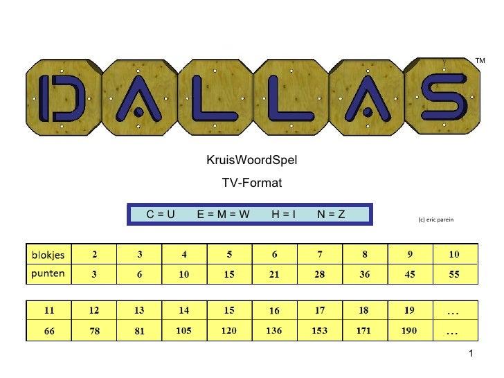 TM      KruisWoordSpel        TV-FormatC=U   E=M=W     H=I    N=Z   (c) eric parein                                       ...