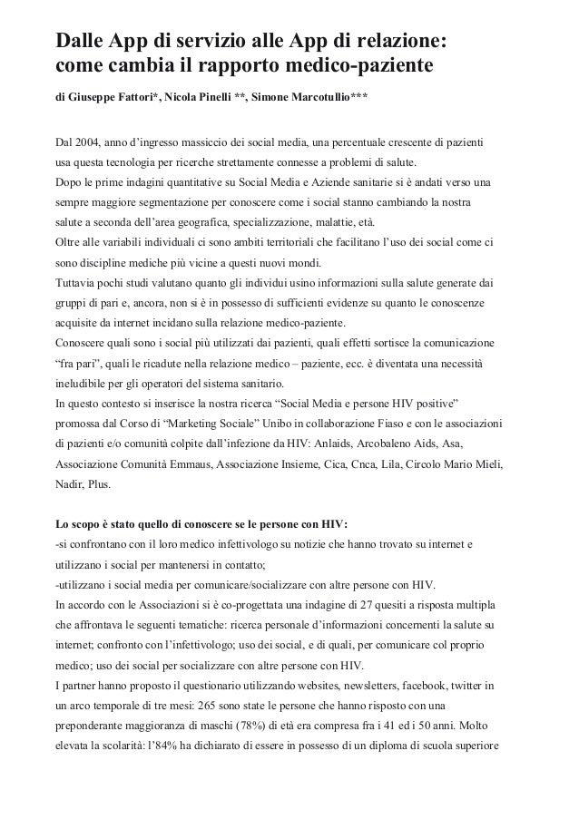Dalle App di servizio alle App di relazione: come cambia il rapporto medico-paziente Slide 2