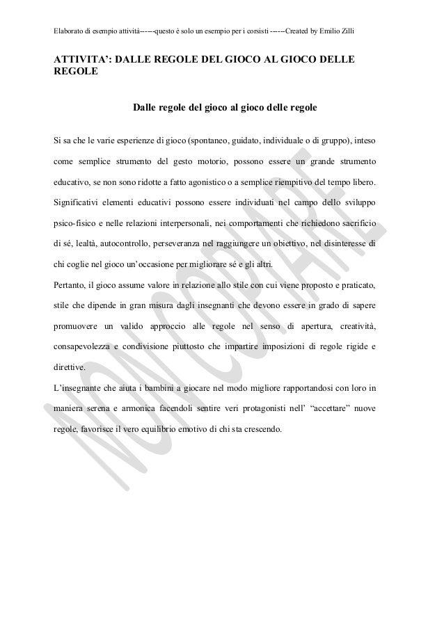 Elaborato di esempio attività------questo è solo un esempio per i corsisti ------Created by Emilio ZilliATTIVITA': DALLE R...
