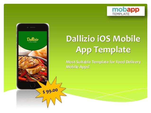 Custom Dallizio iOS Mobile App Template For Restaurant Apps - Only at…