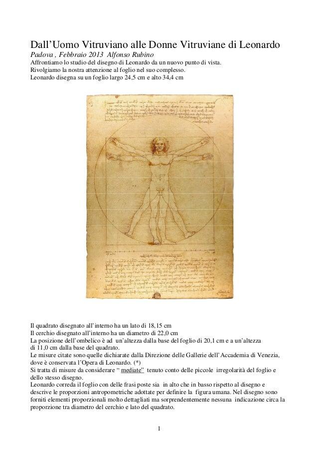 Dall'Uomo Vitruviano alle Donne Vitruviane di LeonardoPadova , Febbraio 2013 Alfonso RubinoAffrontiamo lo studio del diseg...