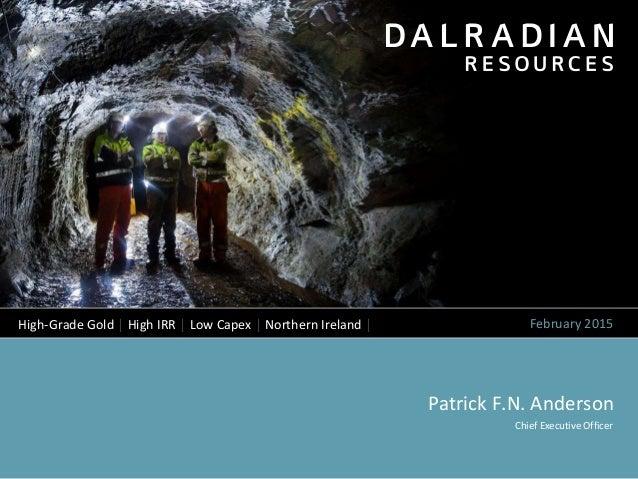 dalradian presentation february 2015