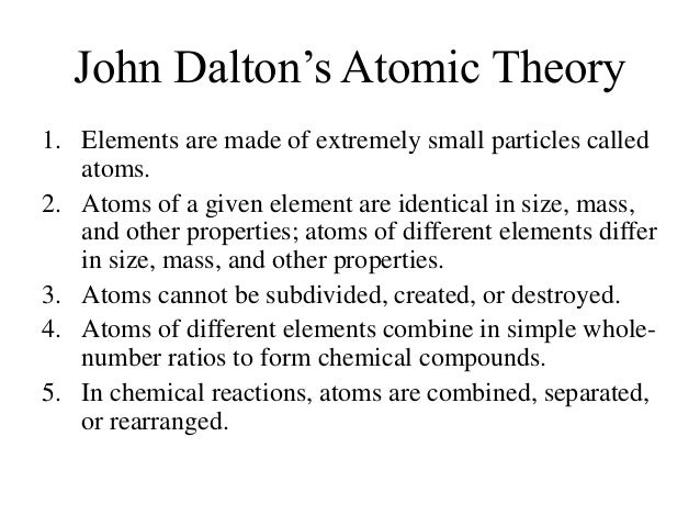 a look at john daltons development of the atomic theory Democritus, aristotle, and john dalton development of atomic theory (democritus, aristotle, and john dalton study guide by oreymidp includes 20 questions covering vocabulary, terms and more quizlet flashcards, activities and games help you improve your grades.