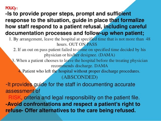 Dama,absconded & out on pass med staff responsibility Slide 3
