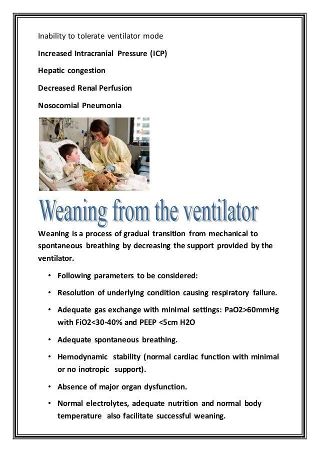 mechanical ventilation in children