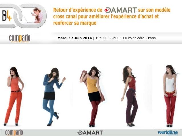 Agenda 1. Présentation du groupe Damartex 2. La marque Damart 3. Les enjeux du projet 4. La réalisation 5. Perspectiv...