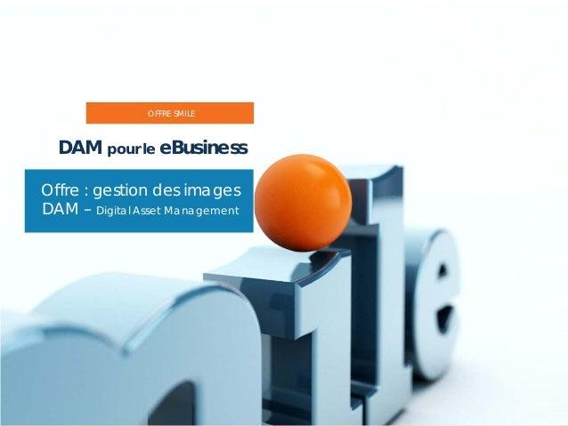 OFFRE SMILE Offre : gestion des images DAM – Digital Asset Management DAM pour le eBusiness