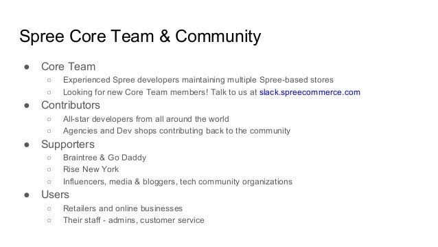Damian Legawiec & Mike Faber, Spree overview @ Open Commerce