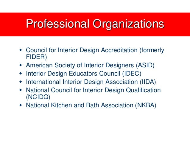 30 Professional Organizations Council For Interior Design