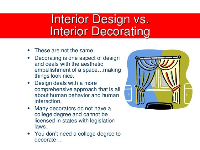 What is interior decoration all about