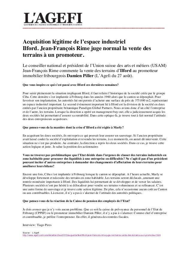_________________________________________________    Acquisition légitime de l'espace industriel Ilford. Jean-François R...