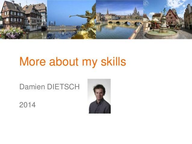 More about my skills Damien DIETSCH 2014