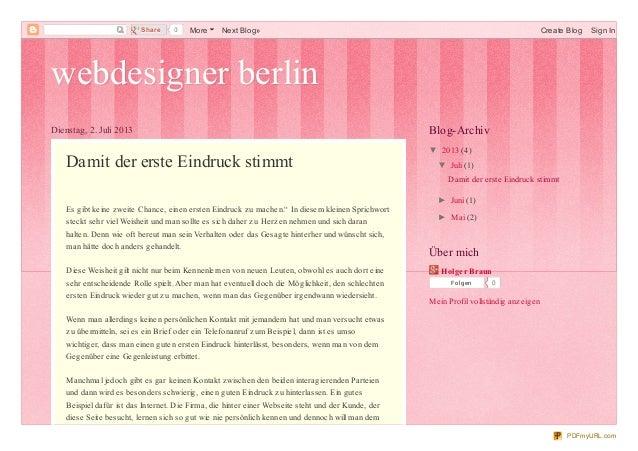 webdesigner berlinwebdesigner berlin Dienstag, 2. Juli 2013 Damit der erste Eindruck stimmt Es gibt keine zweite Chance, e...