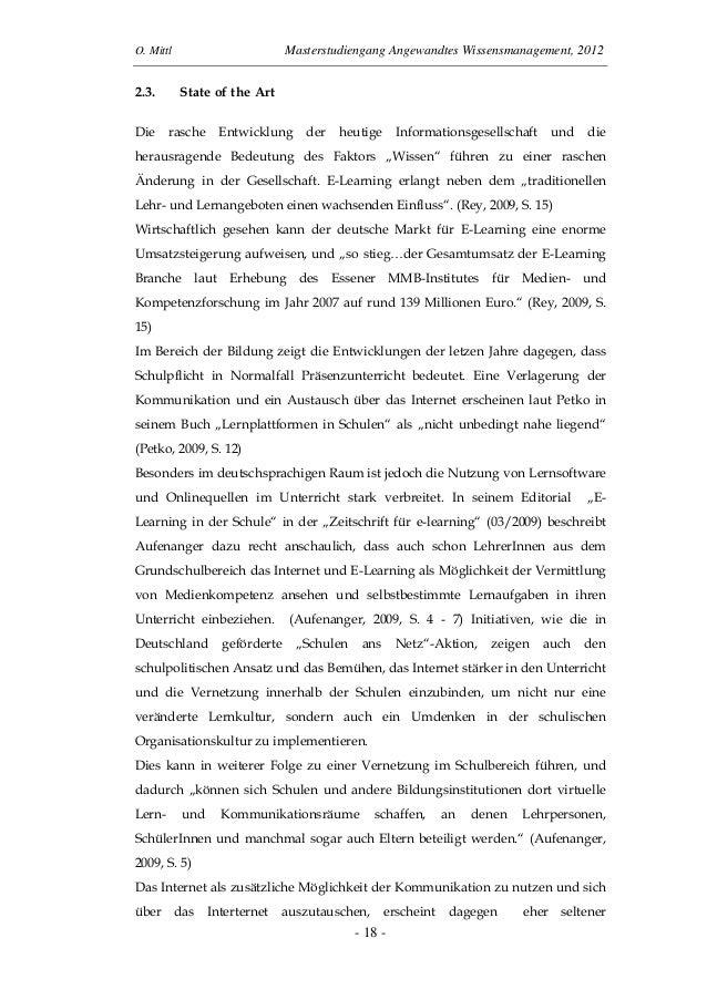 O. Mittl Masterstudiengang Angewandtes Wissensmanagement, 2012- 18 -2.3. State of the ArtDie rasche Entwicklung der heutig...