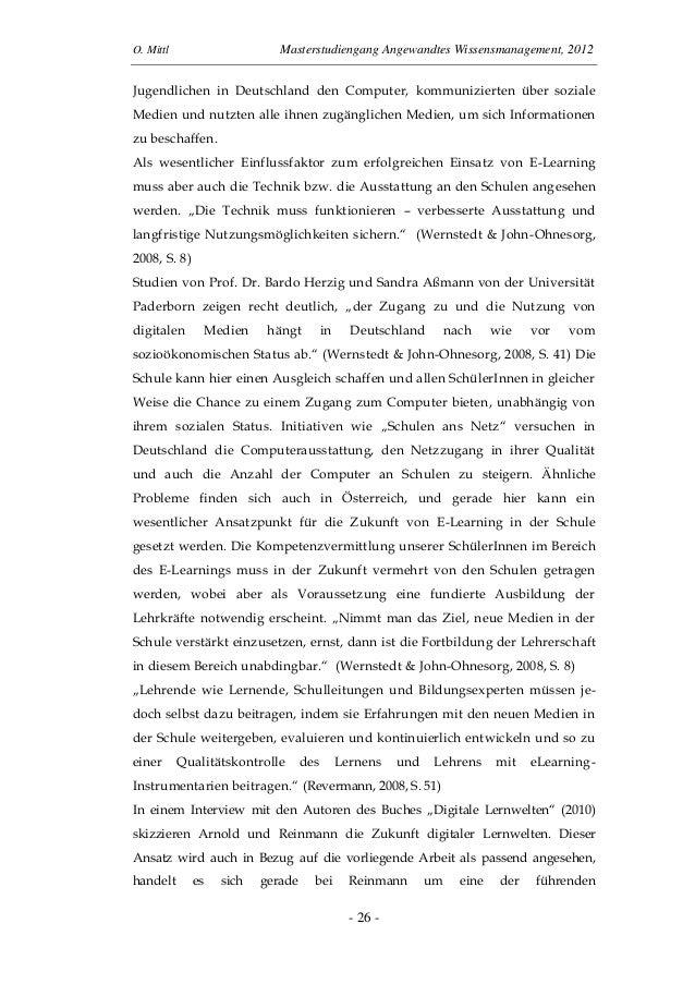 O. Mittl Masterstudiengang Angewandtes Wissensmanagement, 2012- 26 -Jugendlichen in Deutschland den Computer, kommuniziert...