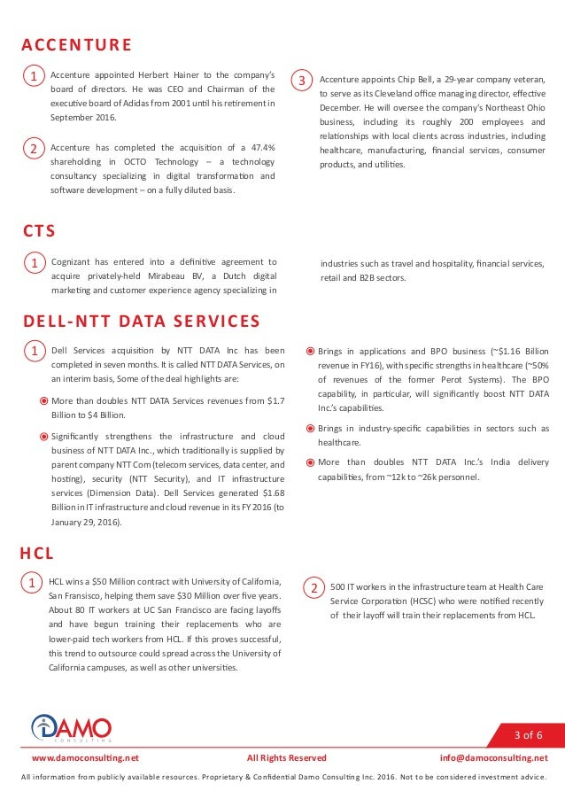 Healthcare IT Services Q4 (November) 2016 Update