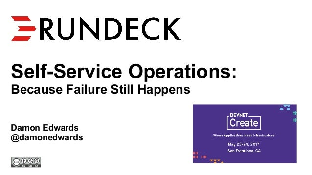 Self-Service Operations: Because Failure Still Happens Damon Edwards @damonedwards