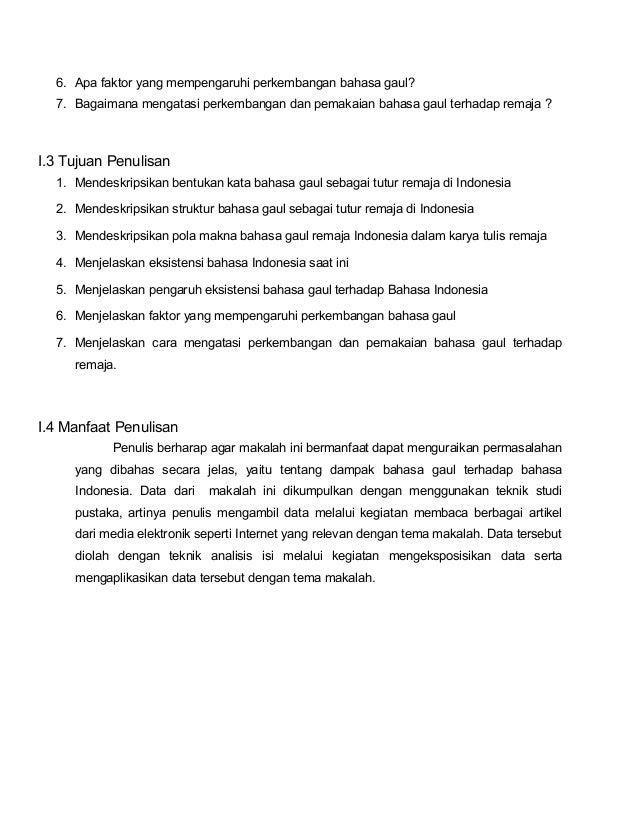 Dampak Bahasa Gaul Terhadap Bahasa Indonesia