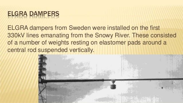 Dampers Used In Electrical Transmission Lines