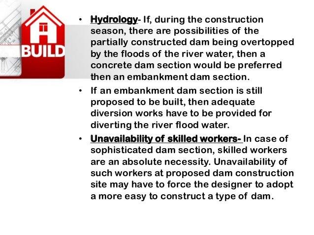 Dams, Types of dams