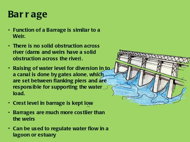 design of weirs and barrages pdf
