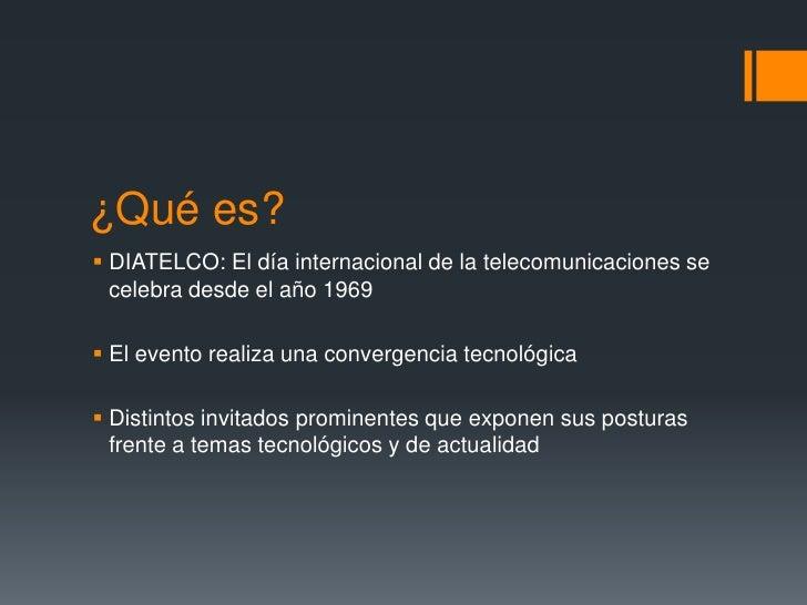 Día mundial de las telecomunicaciones Slide 2
