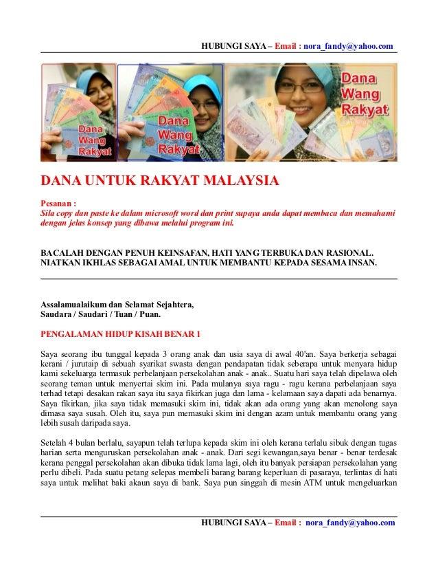 HUBUNGI SAYA – Email : nora_fandy@yahoo.comDANA UNTUK RAKYAT MALAYSIAPesanan :Sila copy dan paste ke dalam microsoft word ...