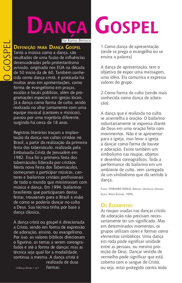 f6ad0c0f49 Revista Dança Gospel (julho e agosto 2011)