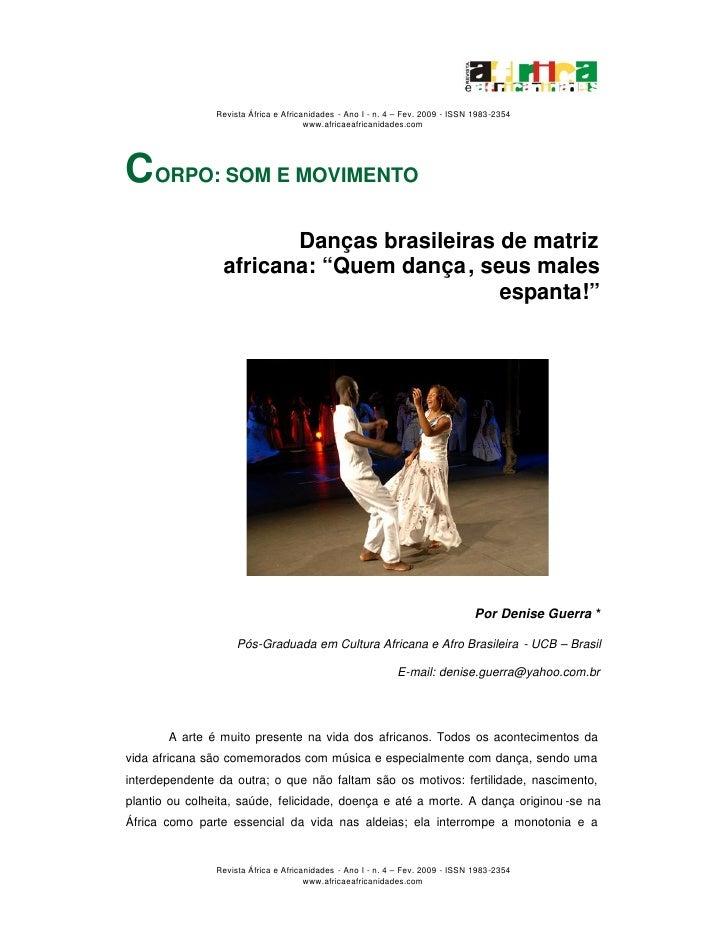 Revista África e Africanidades - Ano I - n. 4 – Fev. 2009 - ISSN 1983-2354                                        www.afri...