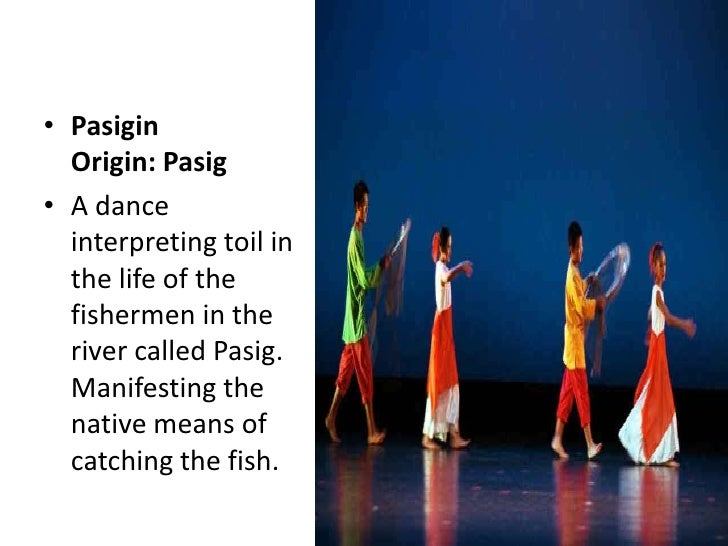 pasigin dance description