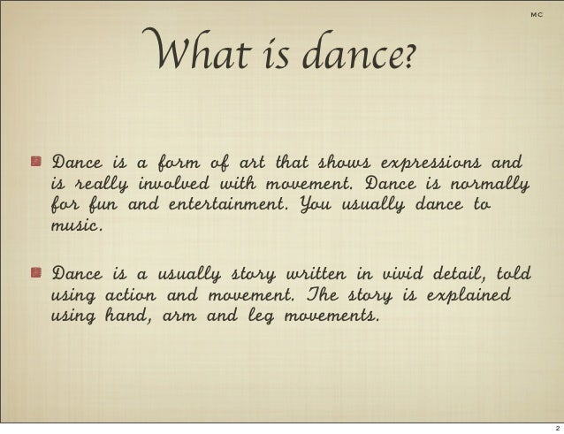 elements of dance essay The use of design principles applied to the visual elements is like visual grammar  the composition is complex,  (these are two versions of a similar essay.