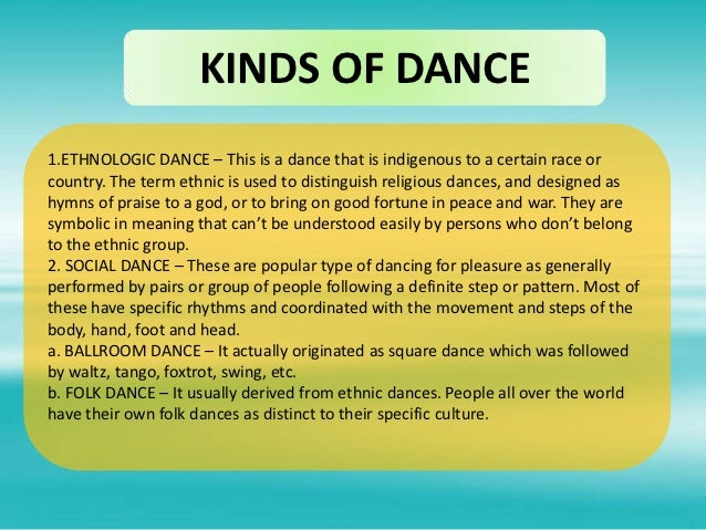 Dance 6 kinds of dance1hnologic dance fandeluxe