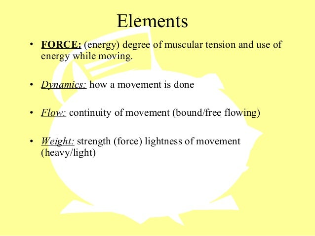Elements Of Movement : Dance elements