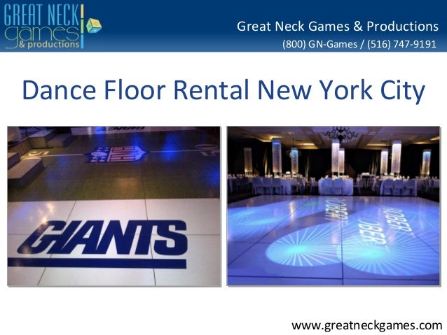 Great Neck Games & Productions                       (800) GN-Games / (516) 747-9191Dance Floor Rental New York City      ...